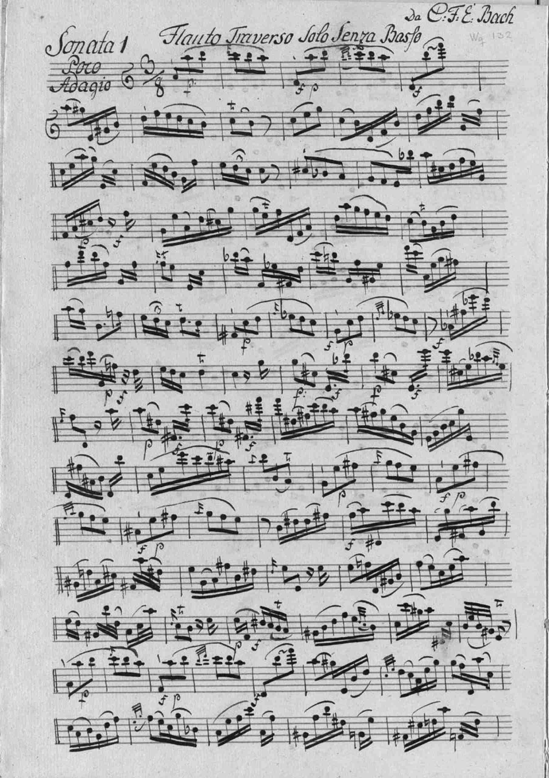 Bach, Carl Philipp Emanuel - Flute Sonata in A minor, H.562