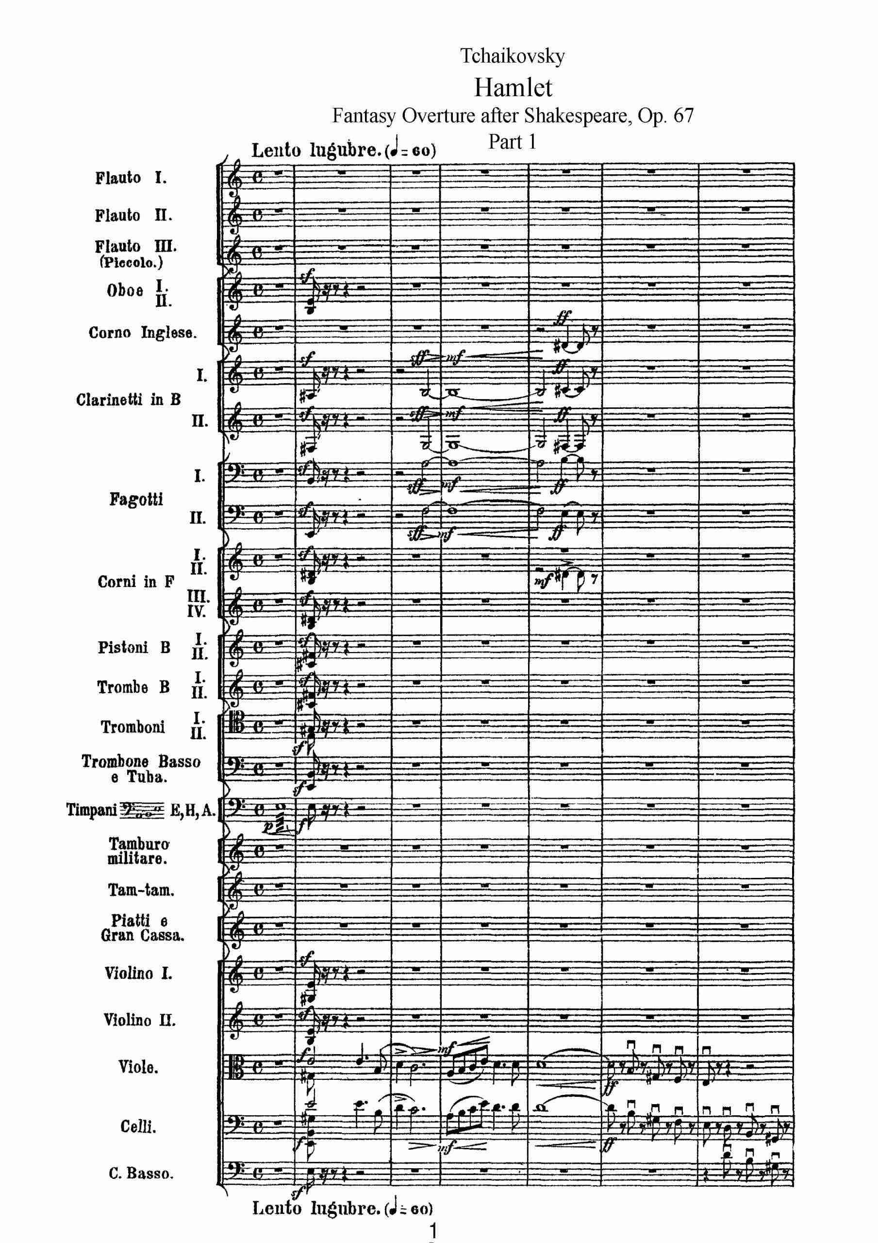 Tchaikovsky, Pyotr - Hamlet (overture-fantasia), Op.67 part 1