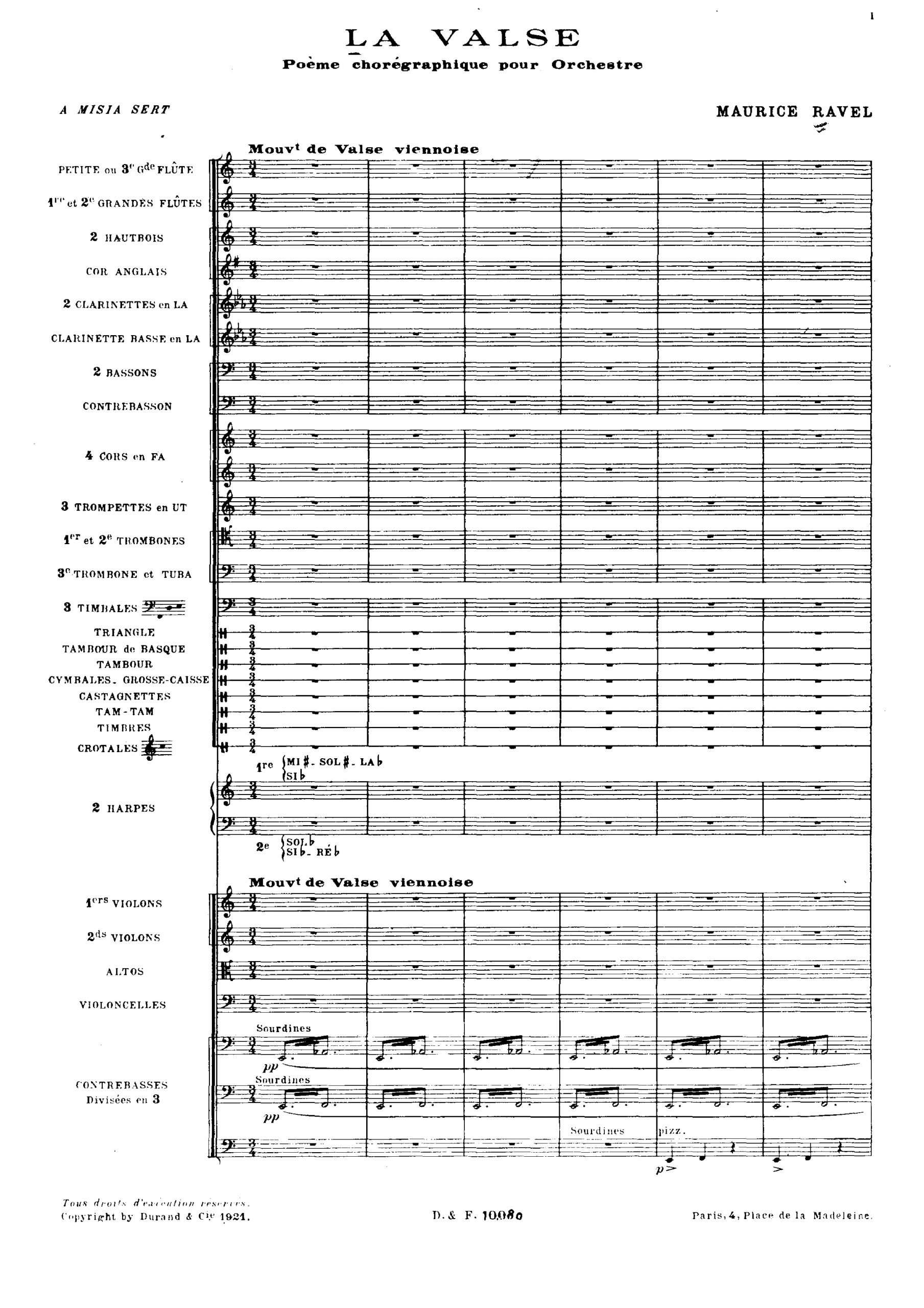 Ravel, Maurice - La valse score