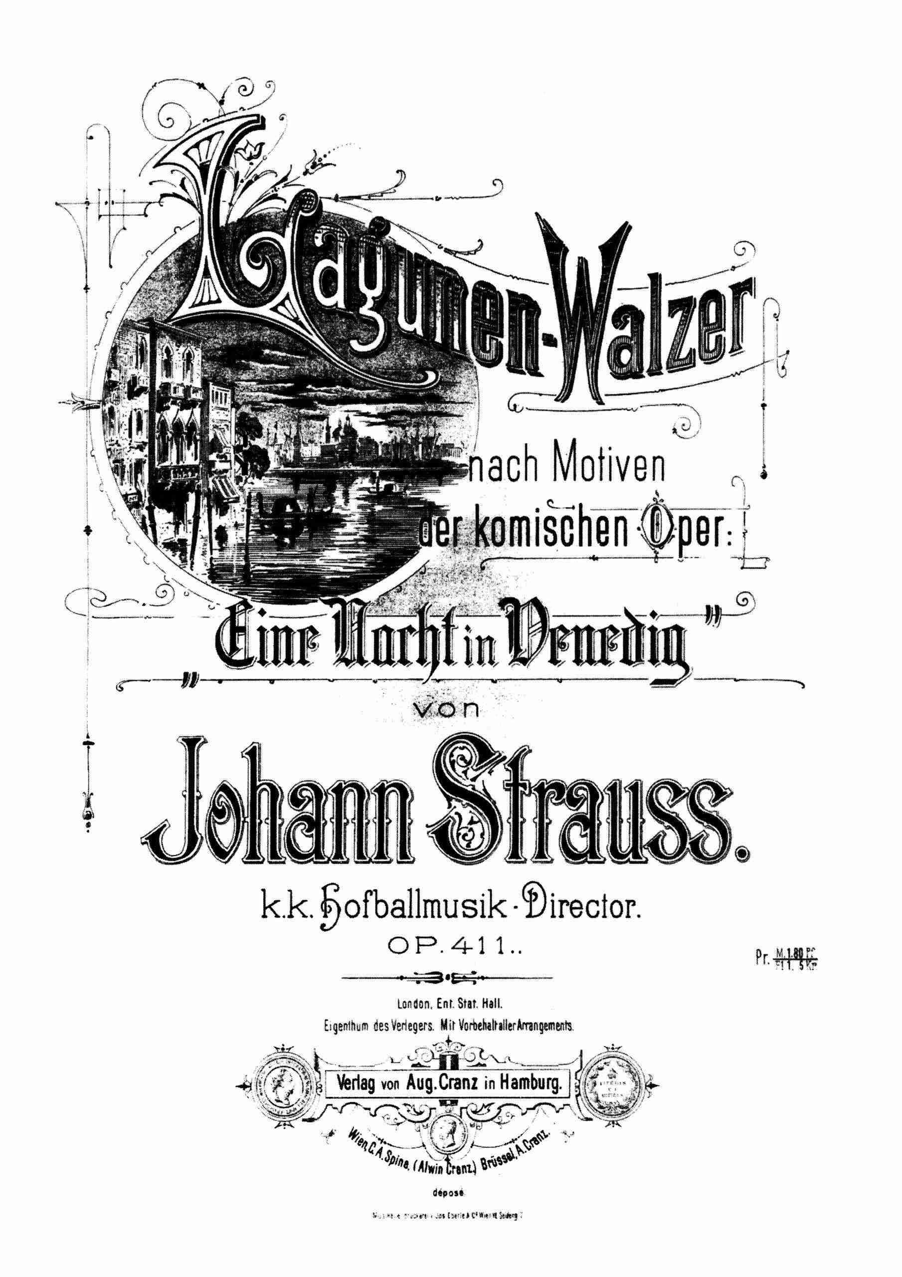 Strauss Jr., Johann - Lagunen-Walzer, Op.411 arr. Piano