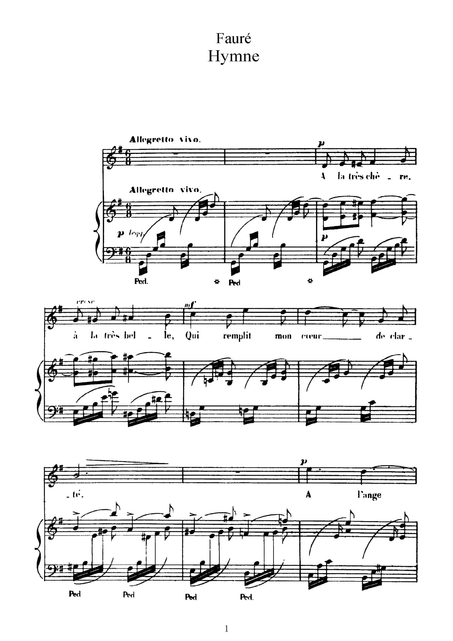 Fauré, Gabriel - 3 Songs, Op.7 (no.2)