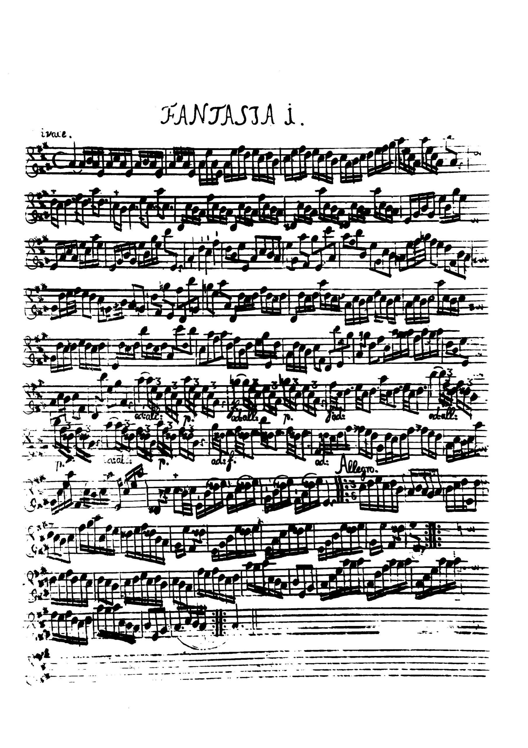 Telemann, Georg Philipp - 12 Fantasias for Flute without Bass, TWV 40:2-13