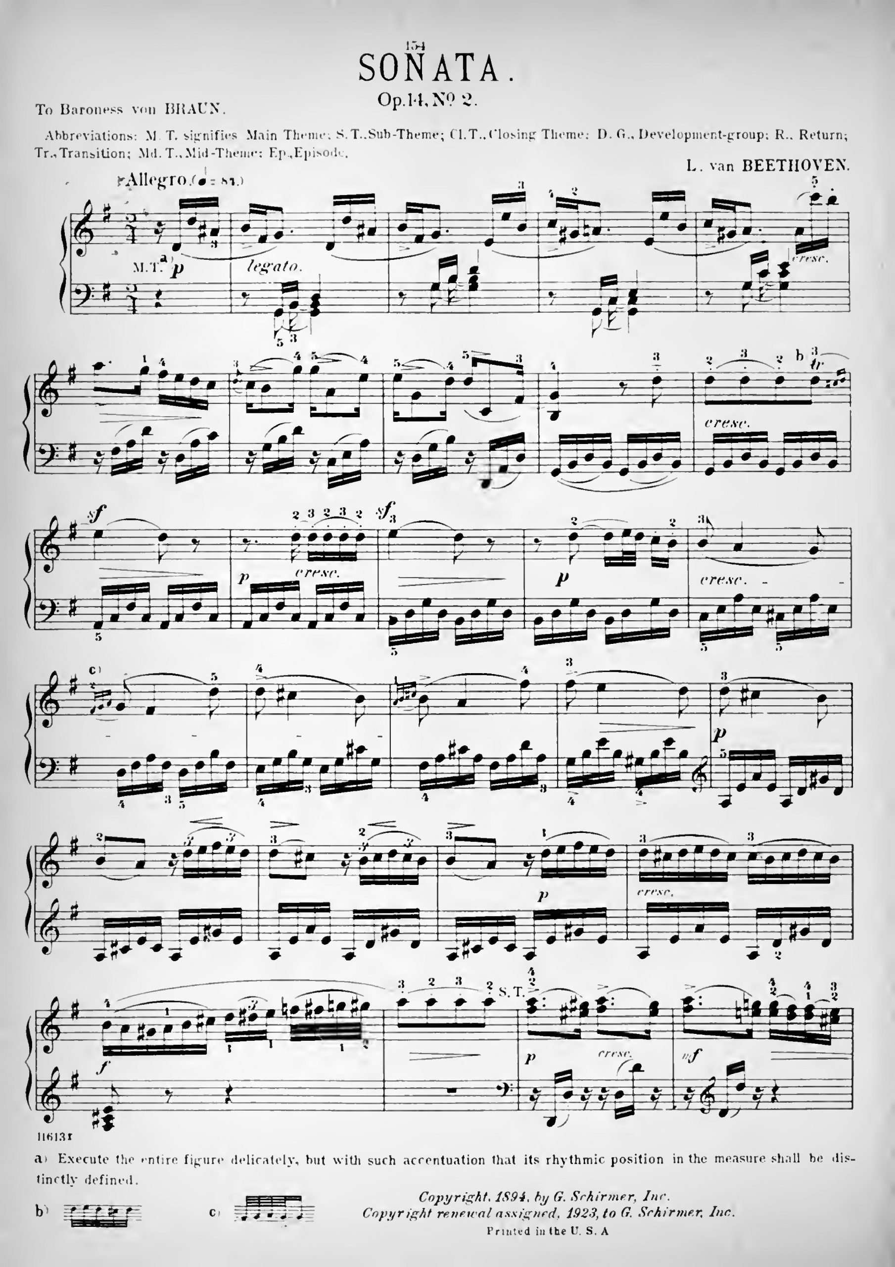 Beethoven, Ludwig van - Piano Sonata No.10, Op.14 No.2