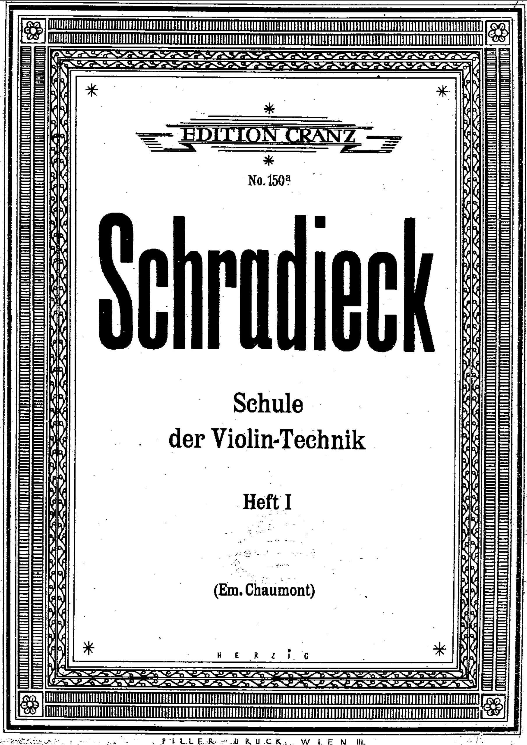 Schradieck, Henry - School of Violin Technics (bk1)
