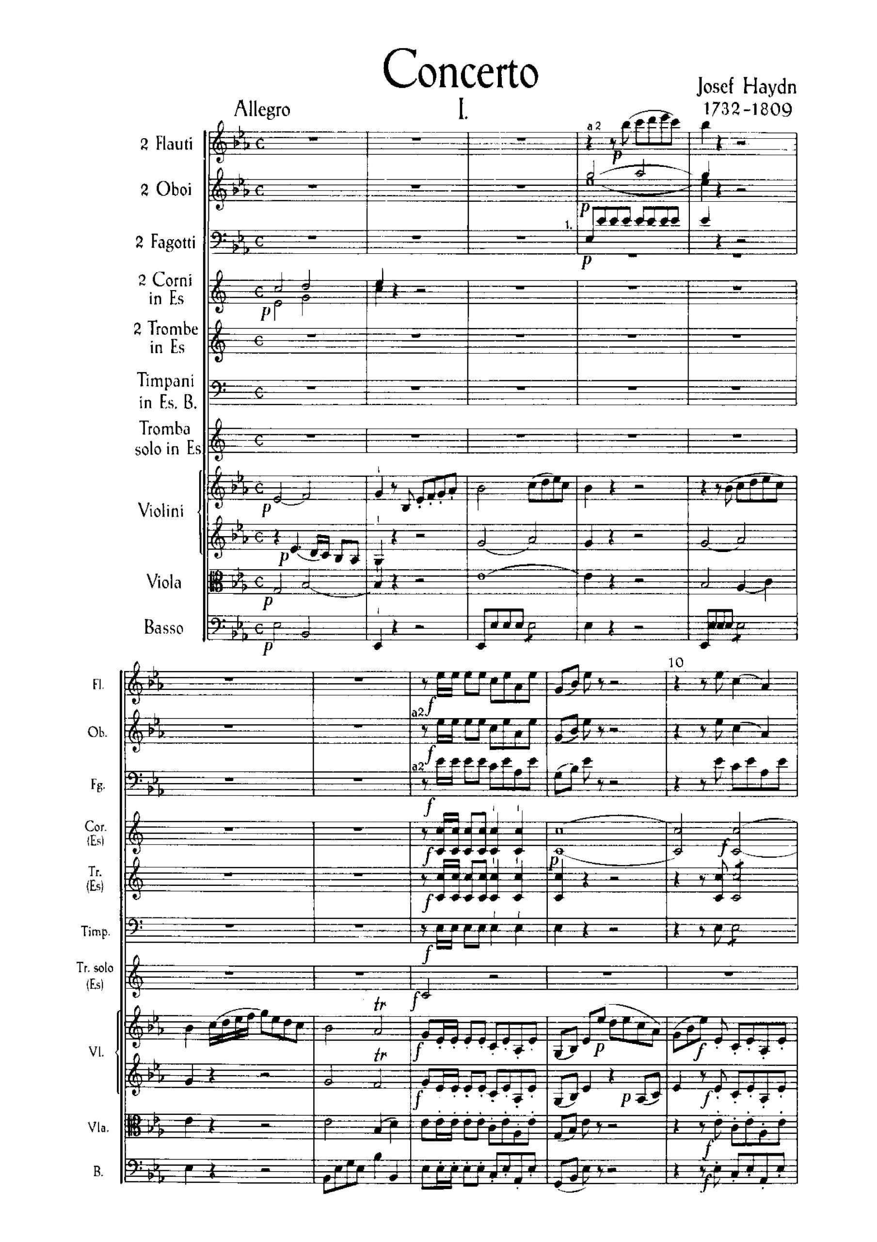 Haydn, Joseph - Trumpet Concerto in E-flat major, Hob.VIIe:1