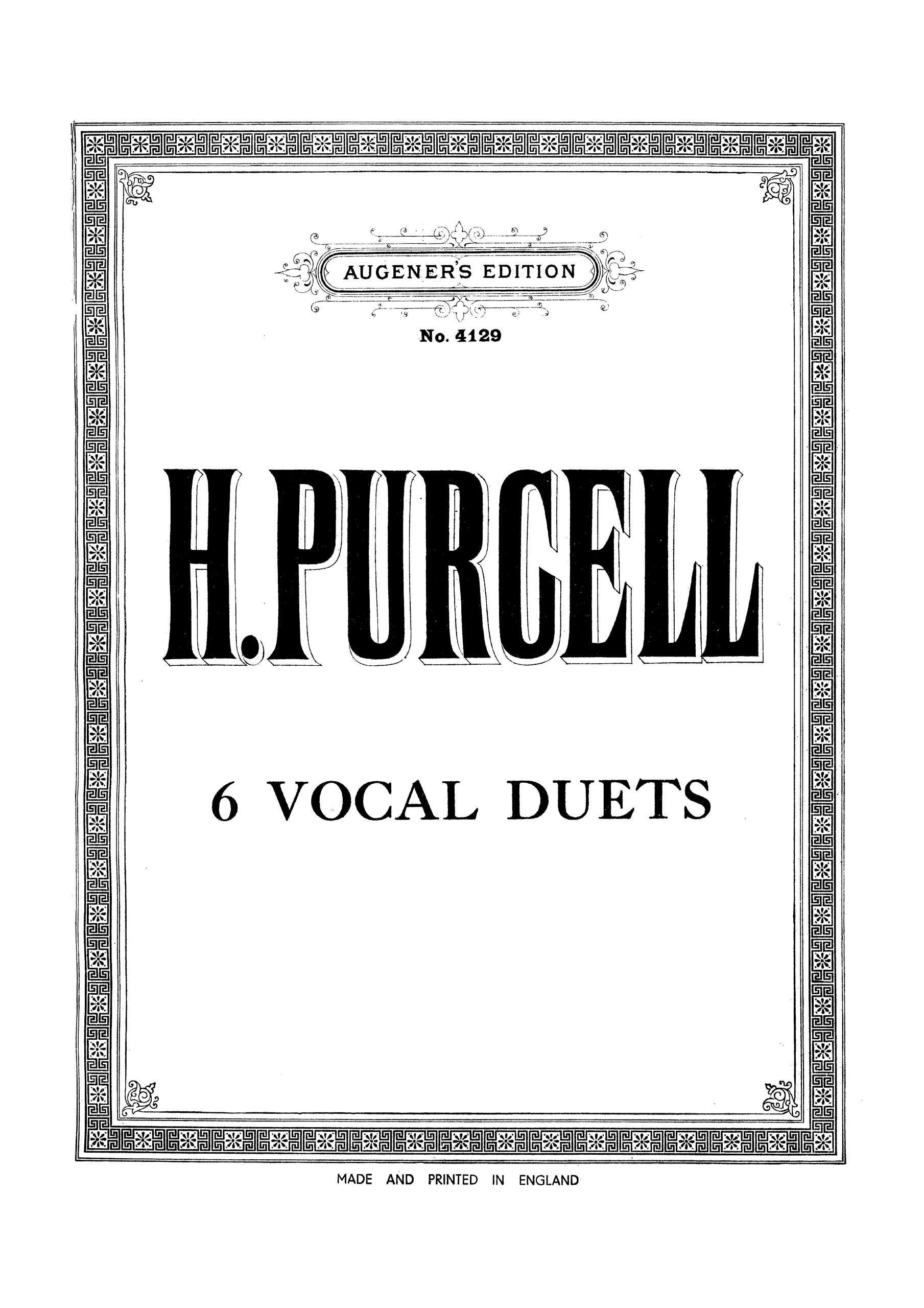 Purcell, Henry - 6 Vocal Duets for 2 Voices and Piano (Moffatt)