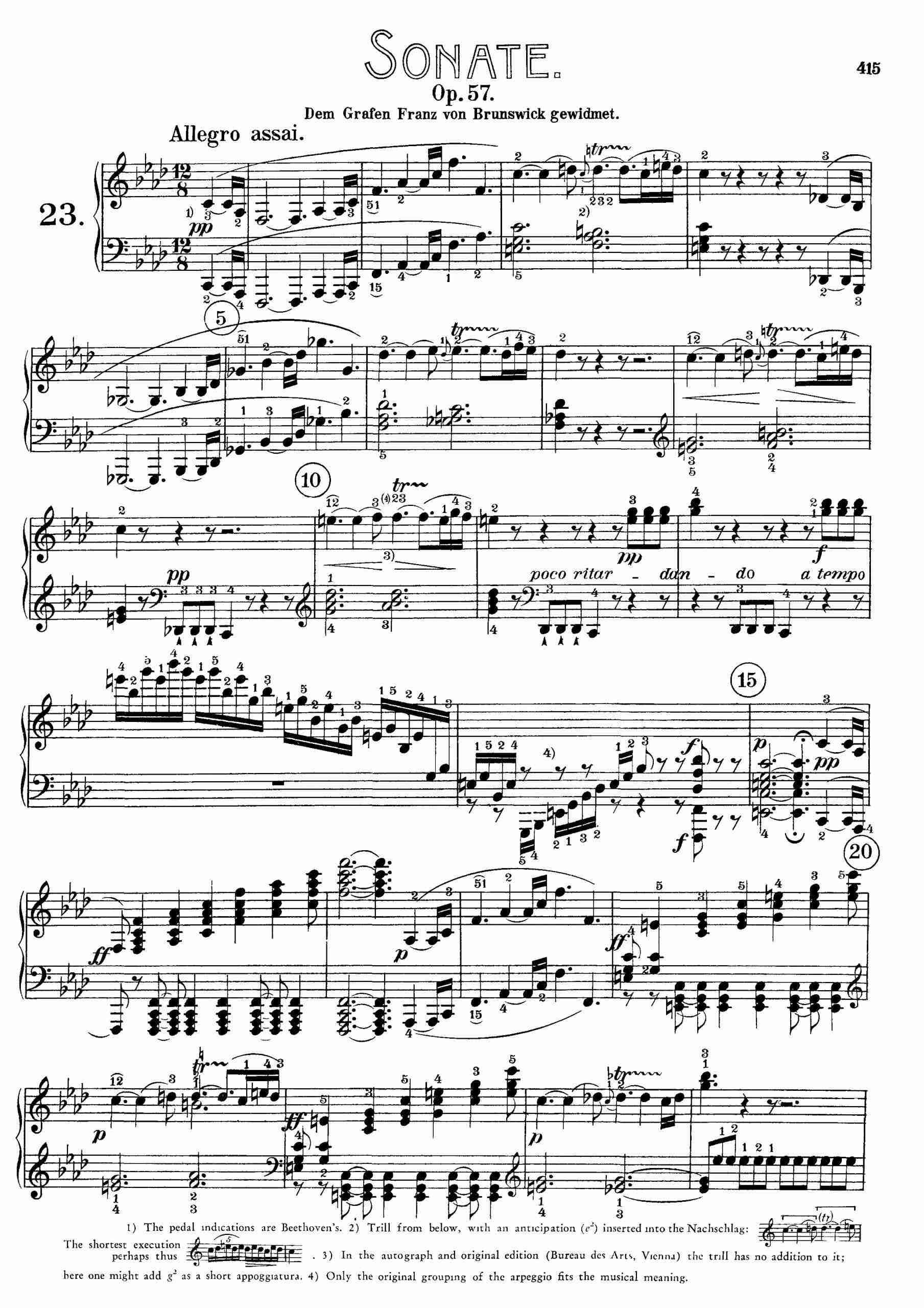 Beethoven, Ludwig van - Piano Sonata No.23, Op.57