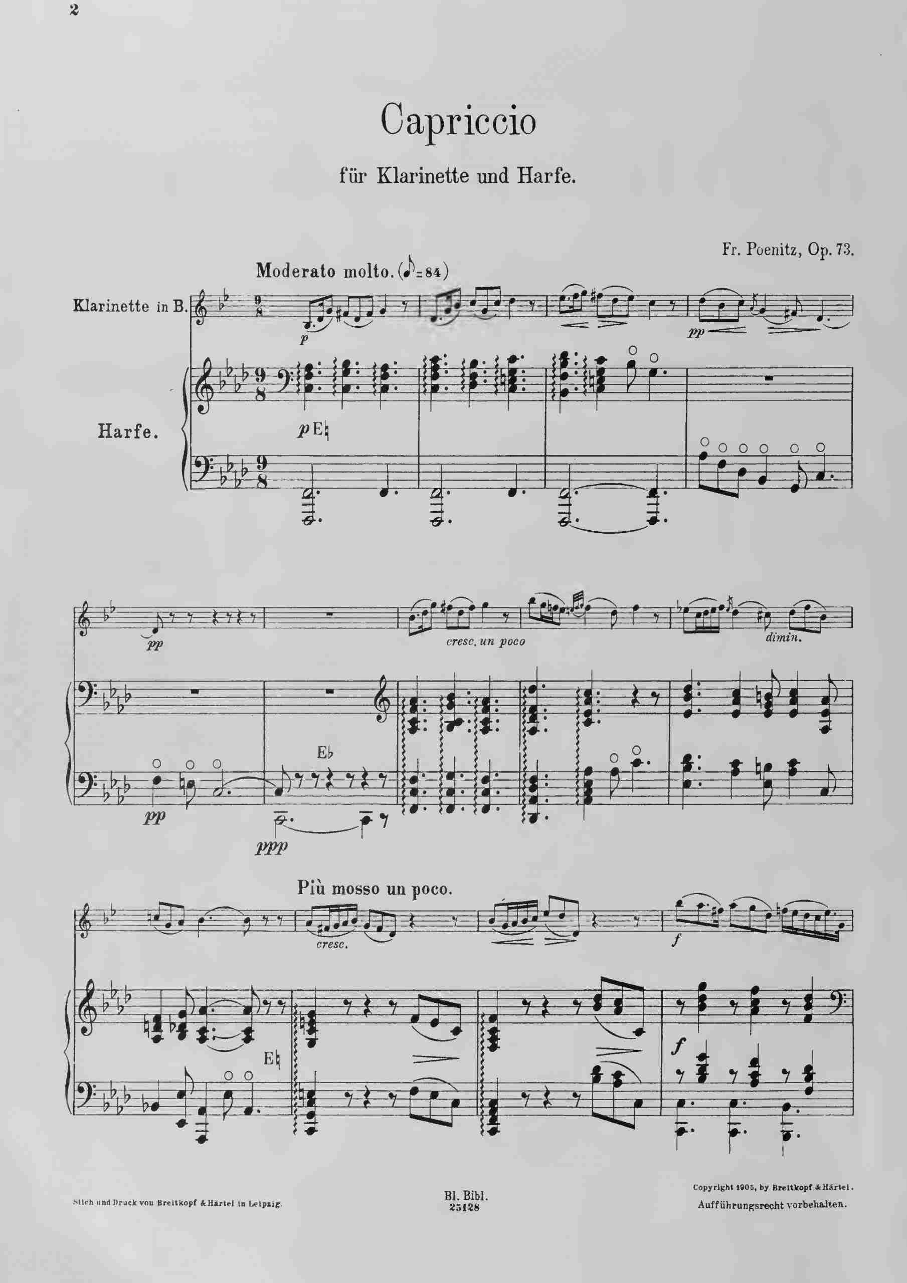 Poenitz, Franz - Capriccio, Op.73