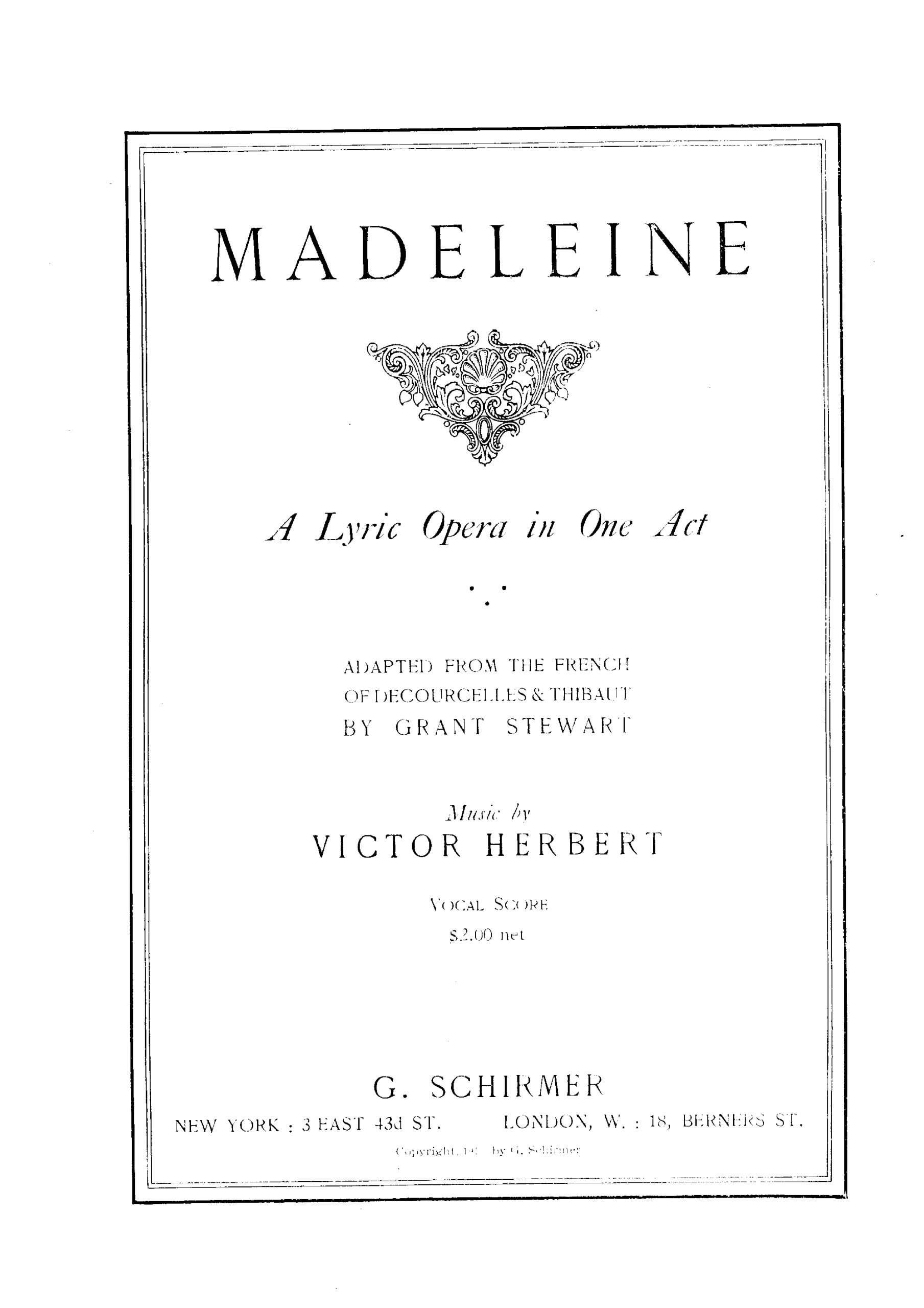 Herbert, Victor - Madeleine