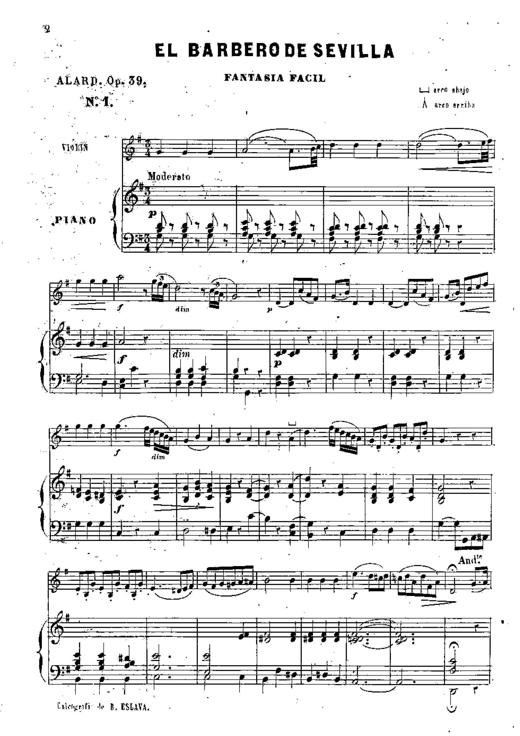 Alard, Jean Delphin - 8 Fantaisies faciles, Op.39 (no.4 pno)