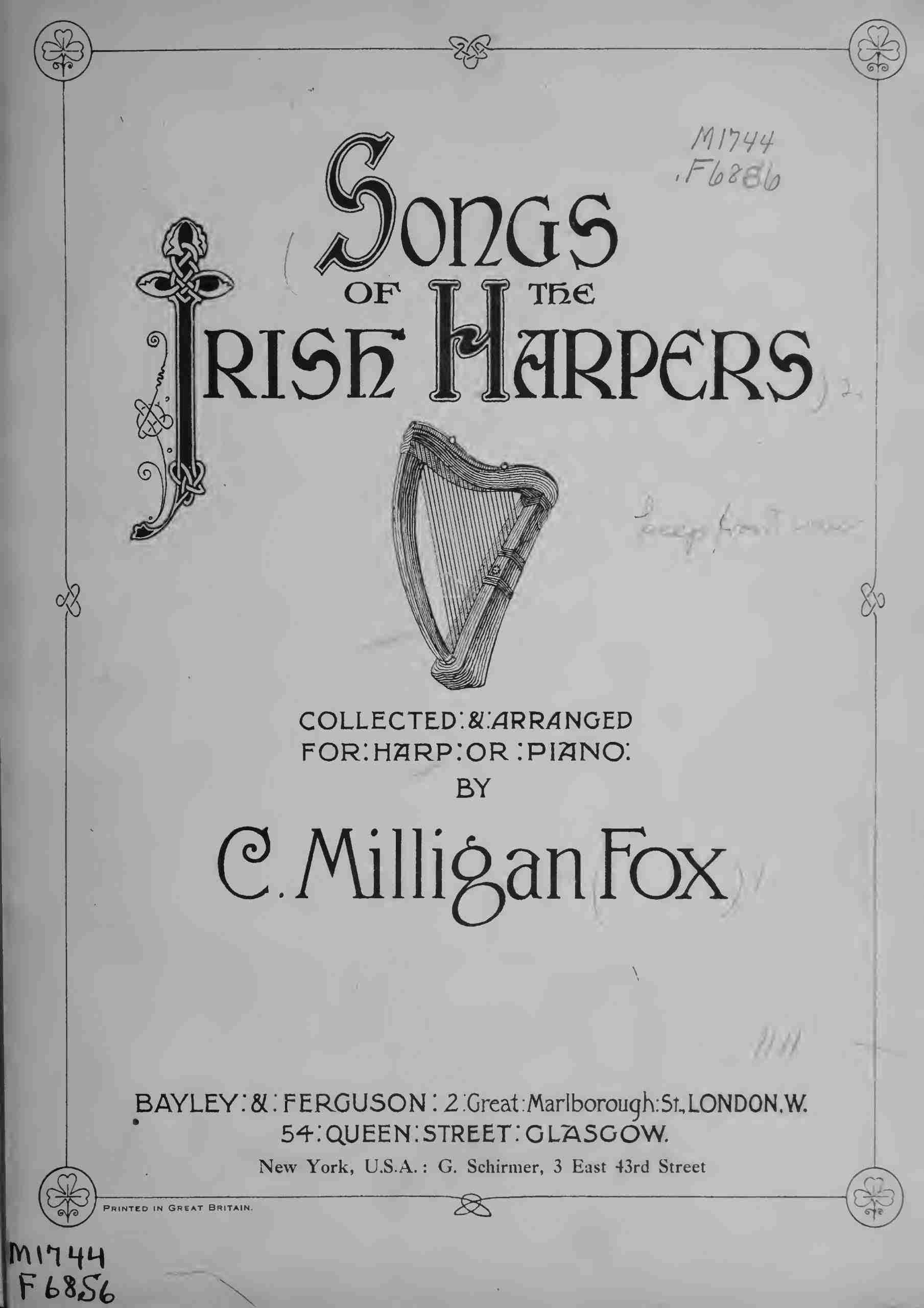 Fox, Charlotte Milligan - Songs of the Irish Harpers