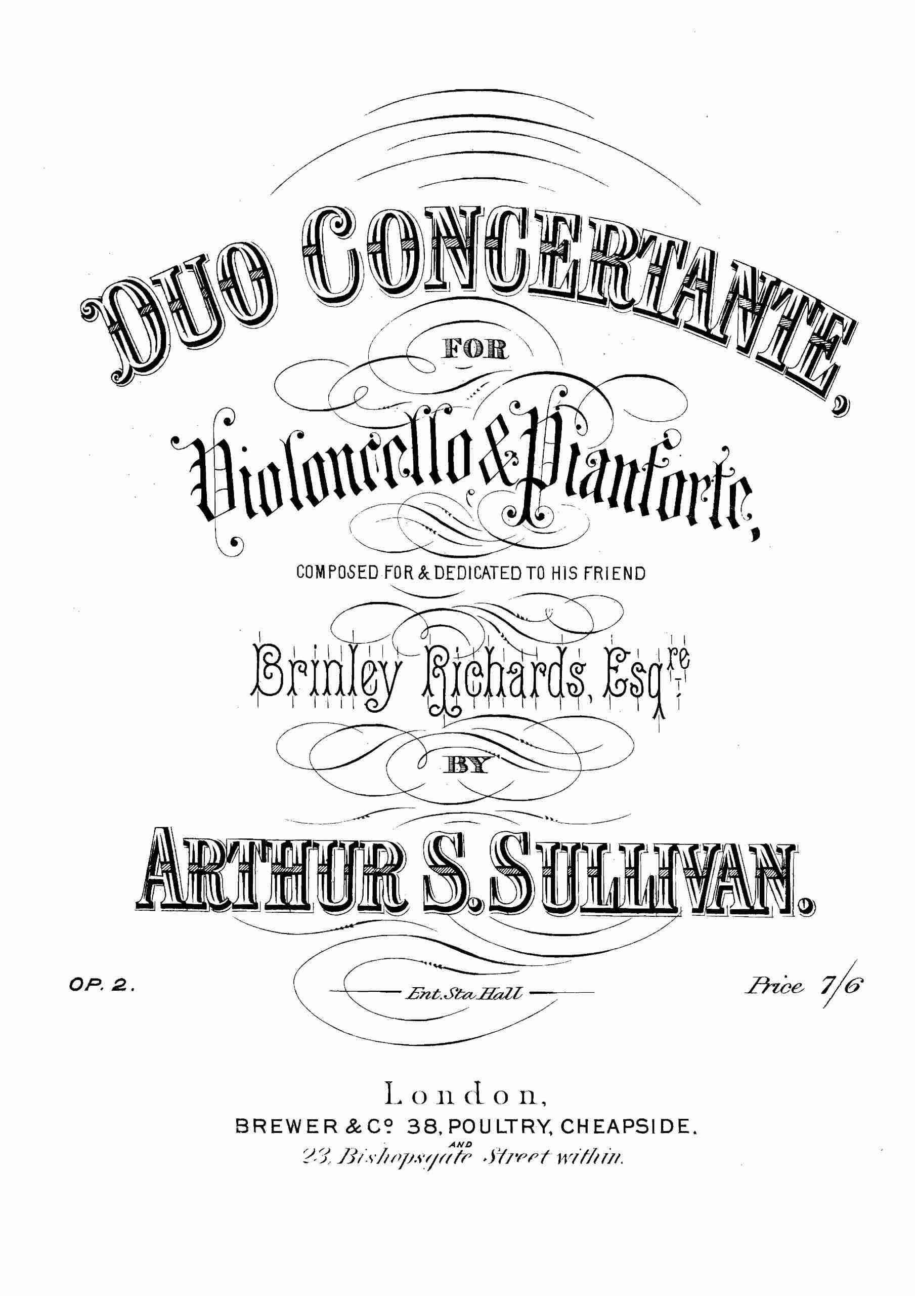 Sullivan, Arthur - Duo concertante, Op.2 (Pno)