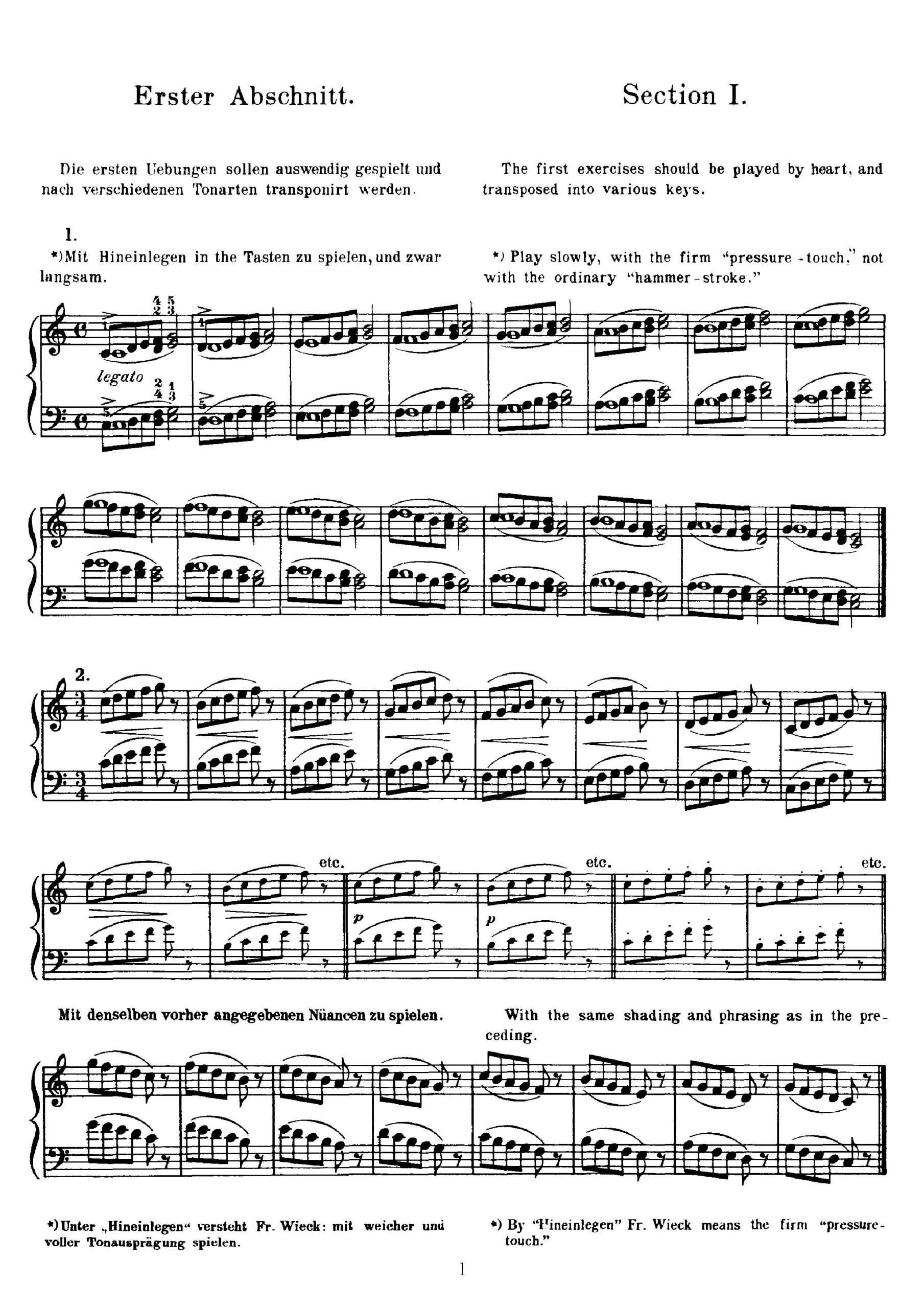 Wieck, Friedrich - Piano Studies