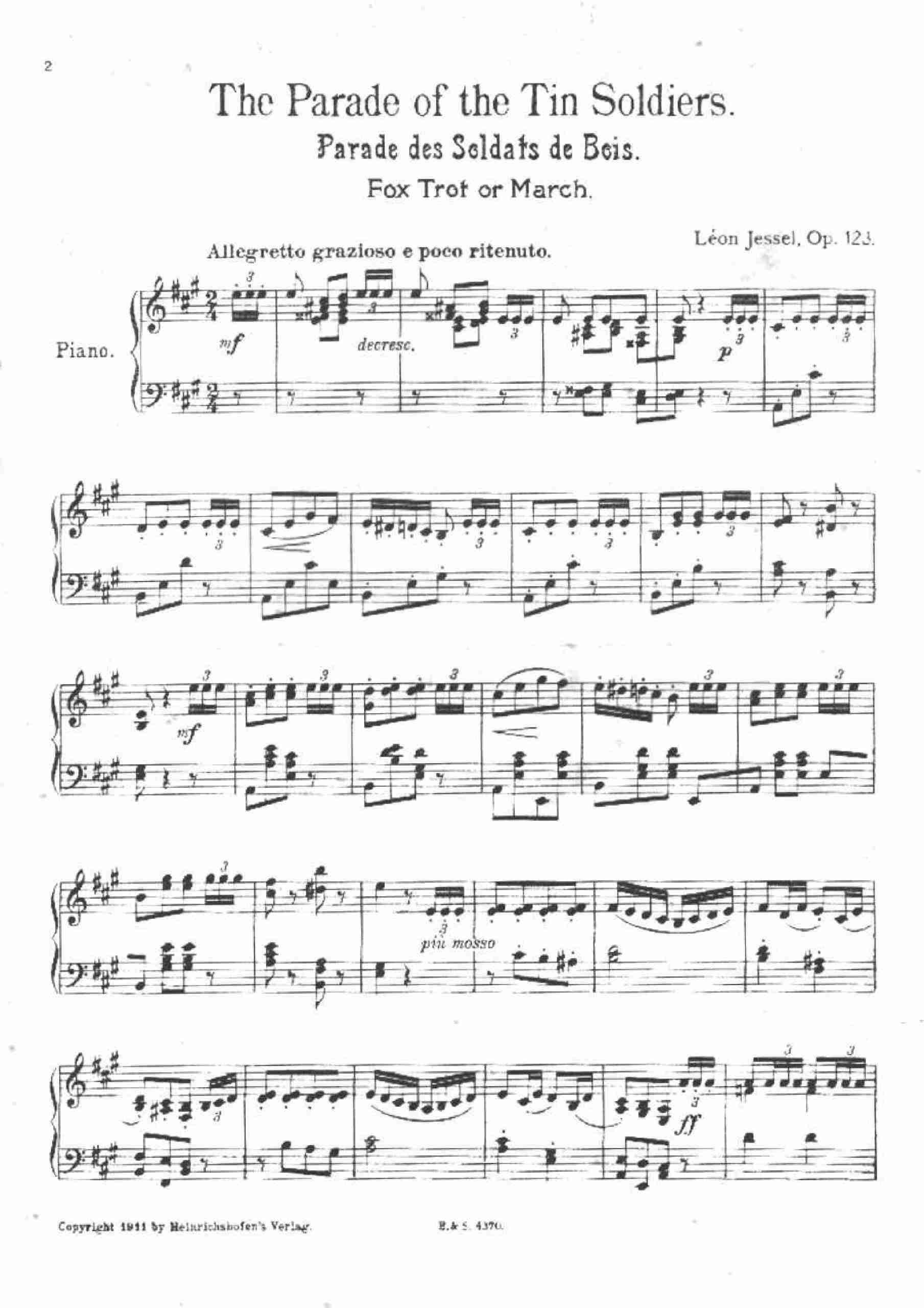 Jessel, Léon - Die Parade der Zinnsoldaten, Op.123