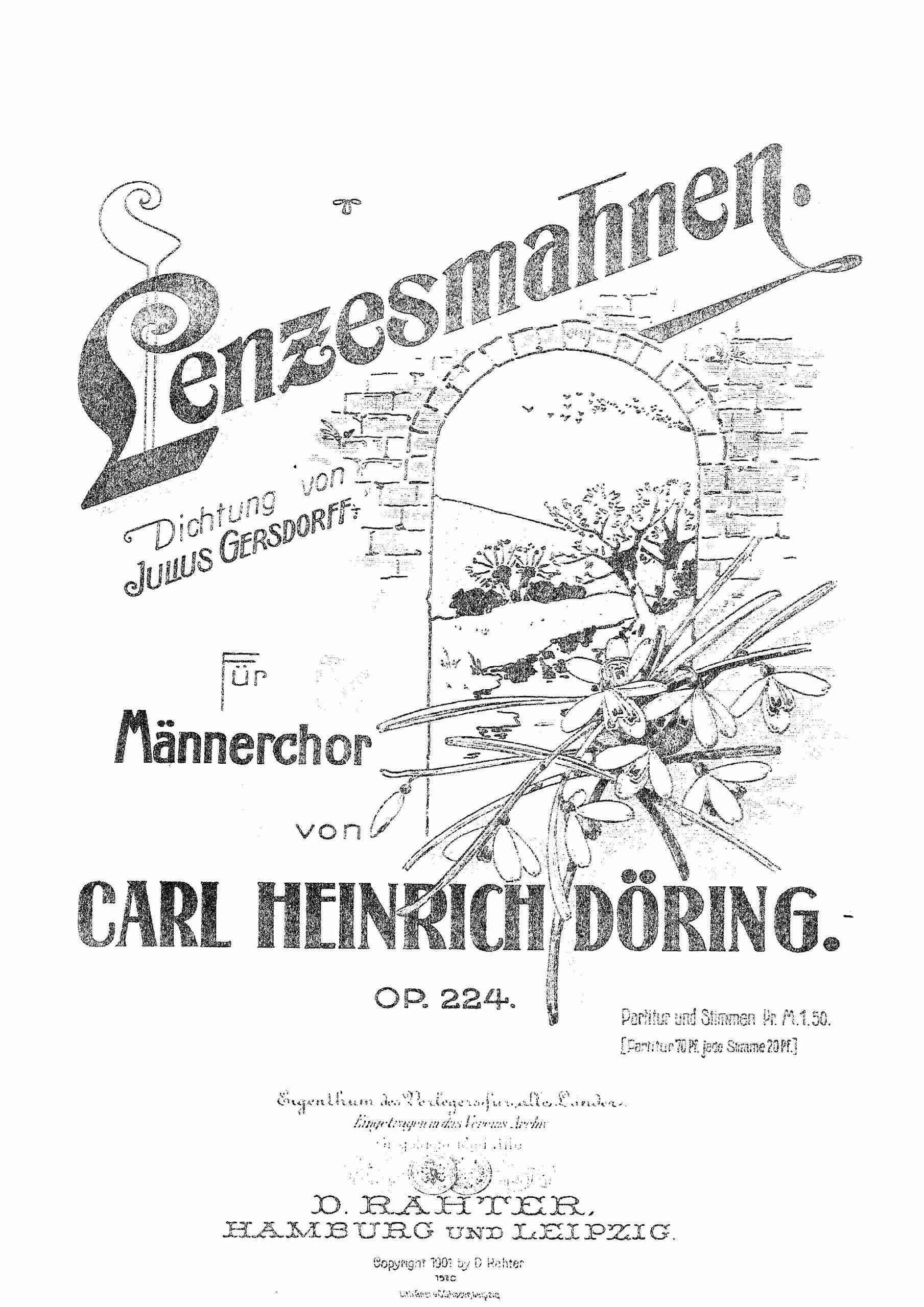 Döring, Karl Heinrich - Lenzesmahnen, Op.224