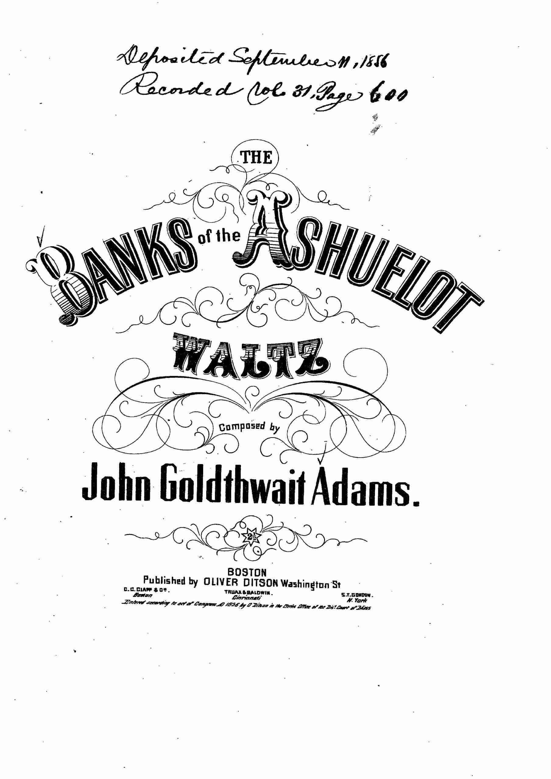 Adams, John Goldthwait - The Banks of the Ashuelot