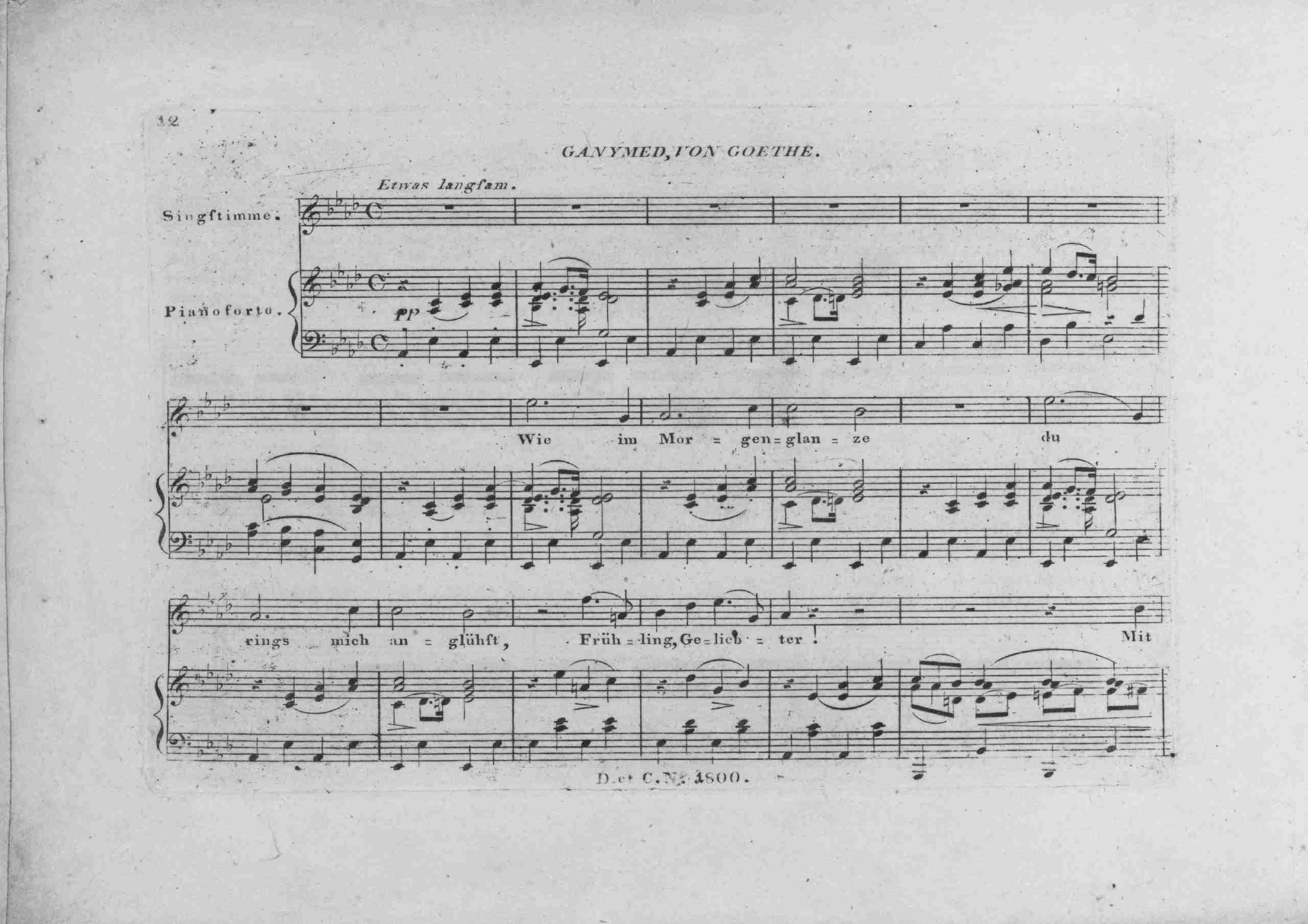 Schubert, Franz - Ganymed, D.544