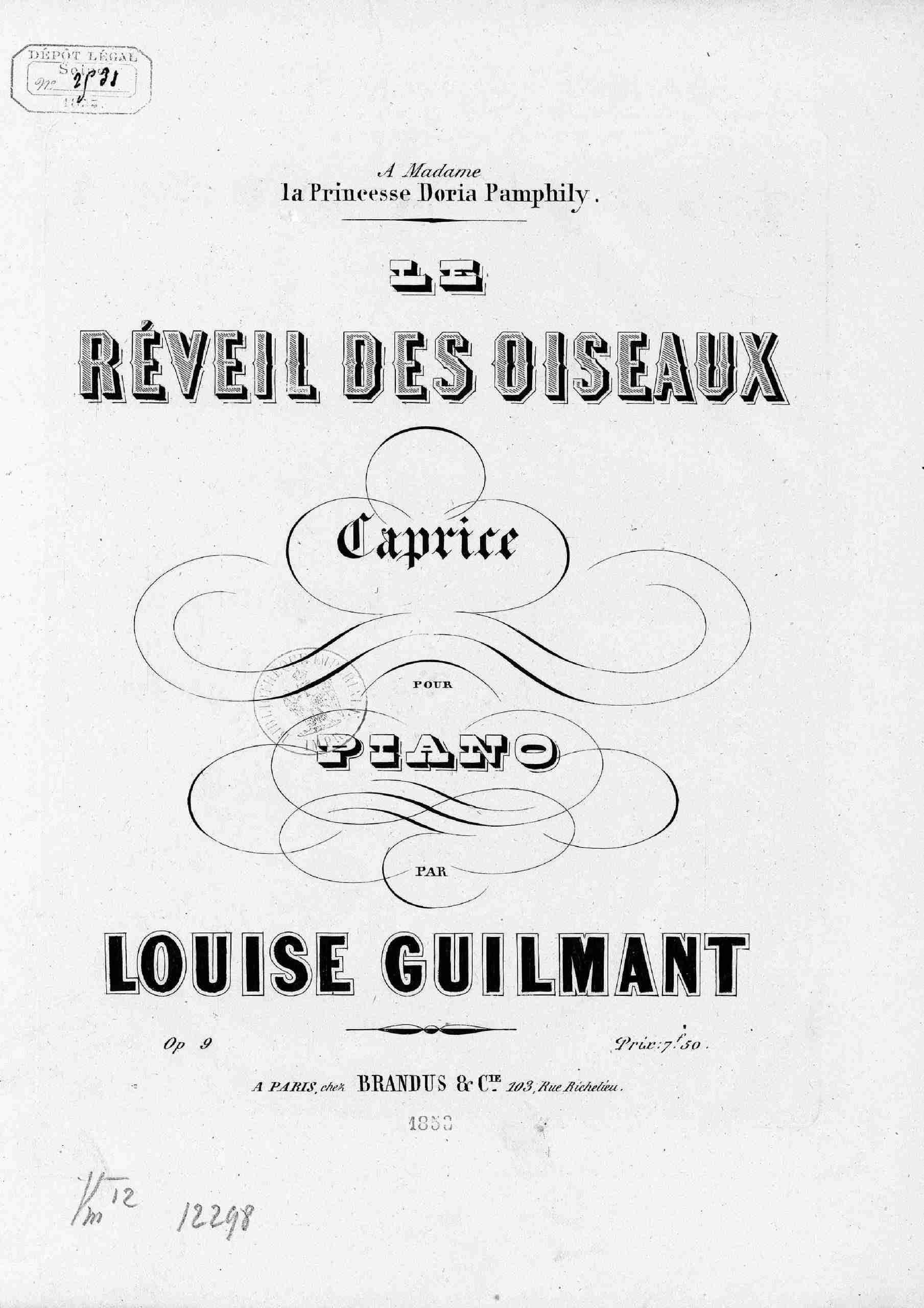 Guilmant, Louise - Le Réveil des oiseaux, Op.9