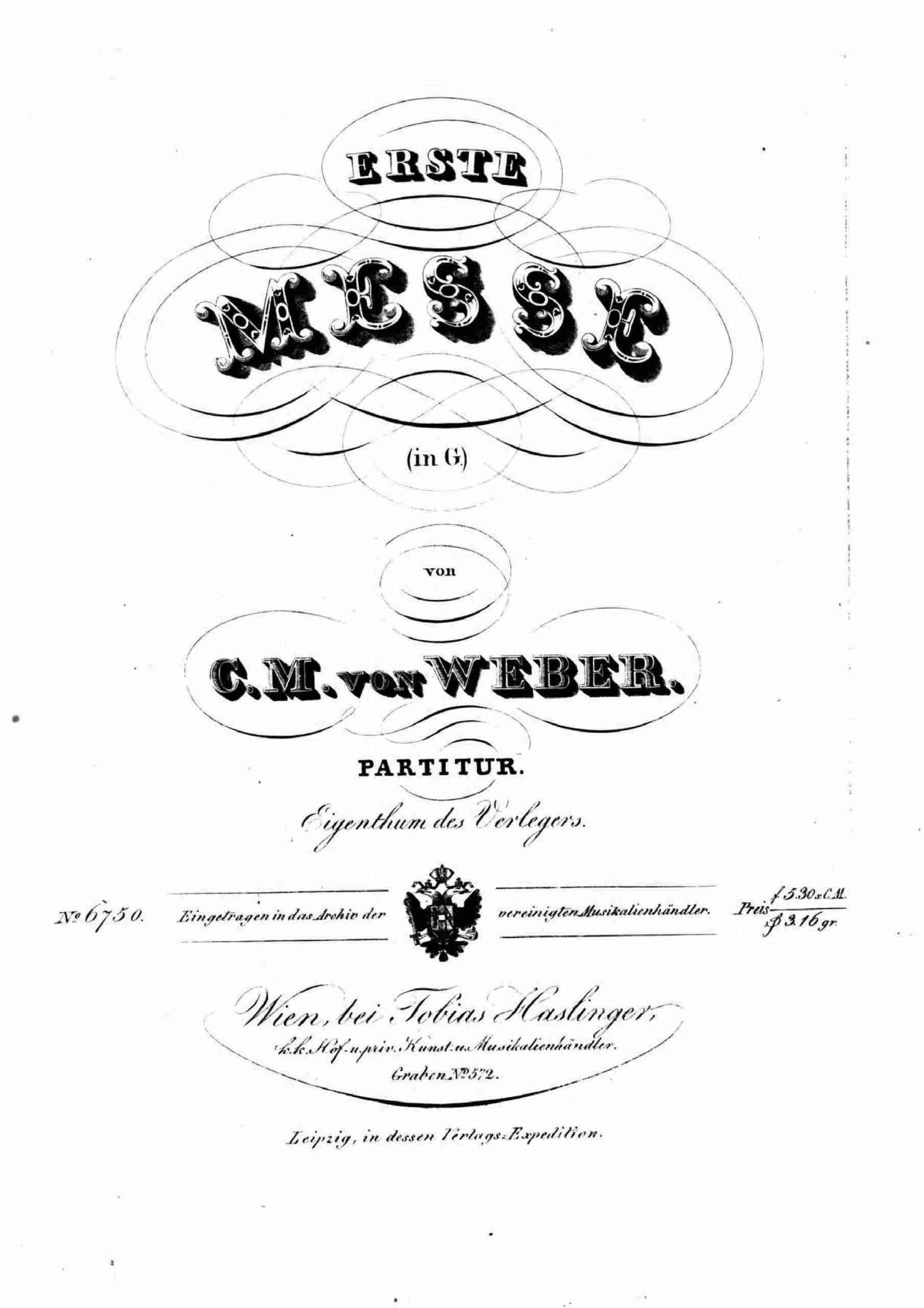 Weber, Carl Maria von - Missa Sancta No.2, Op.76