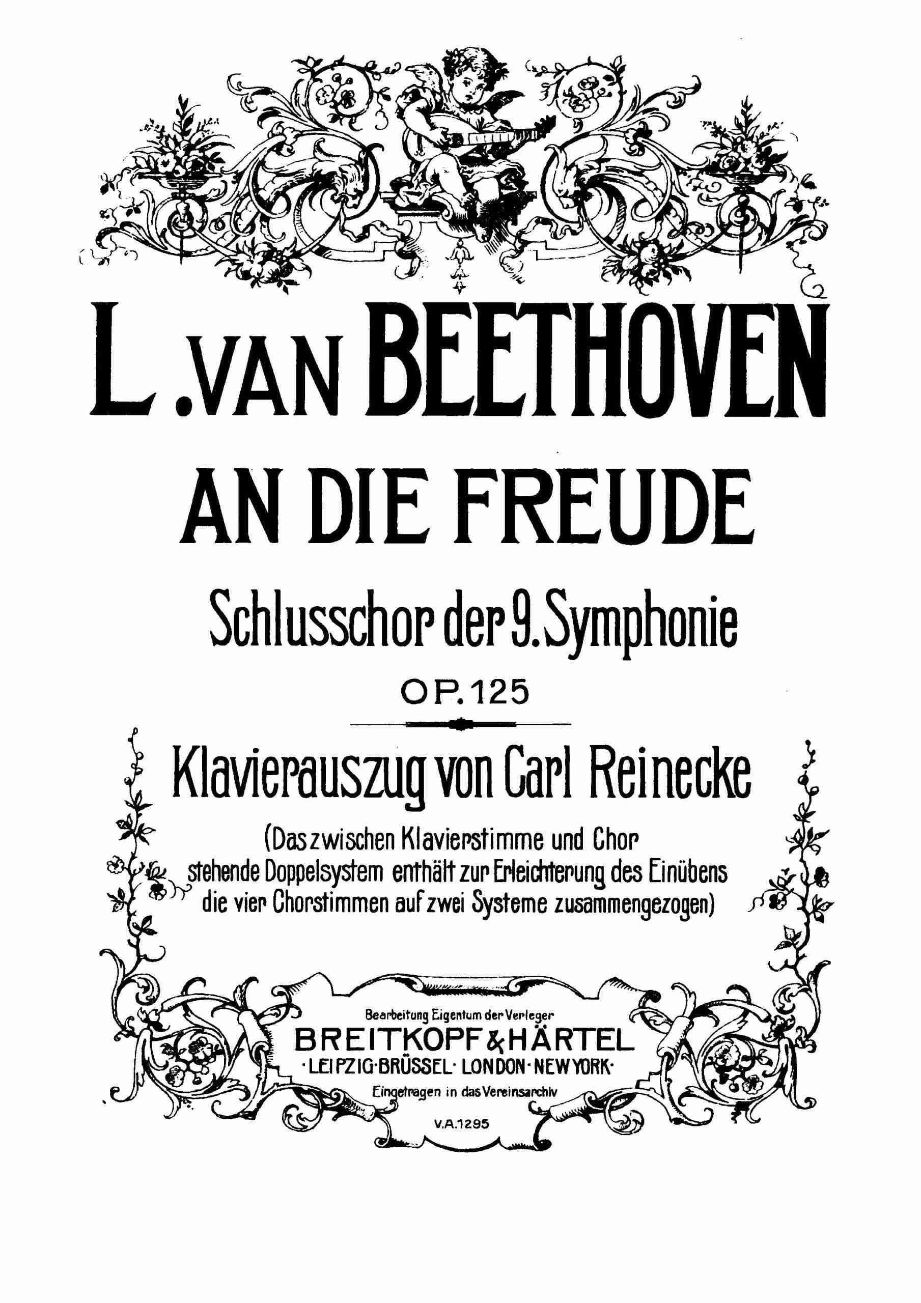 Beethoven - Symphony No.9, Op.125 - Vocal Score