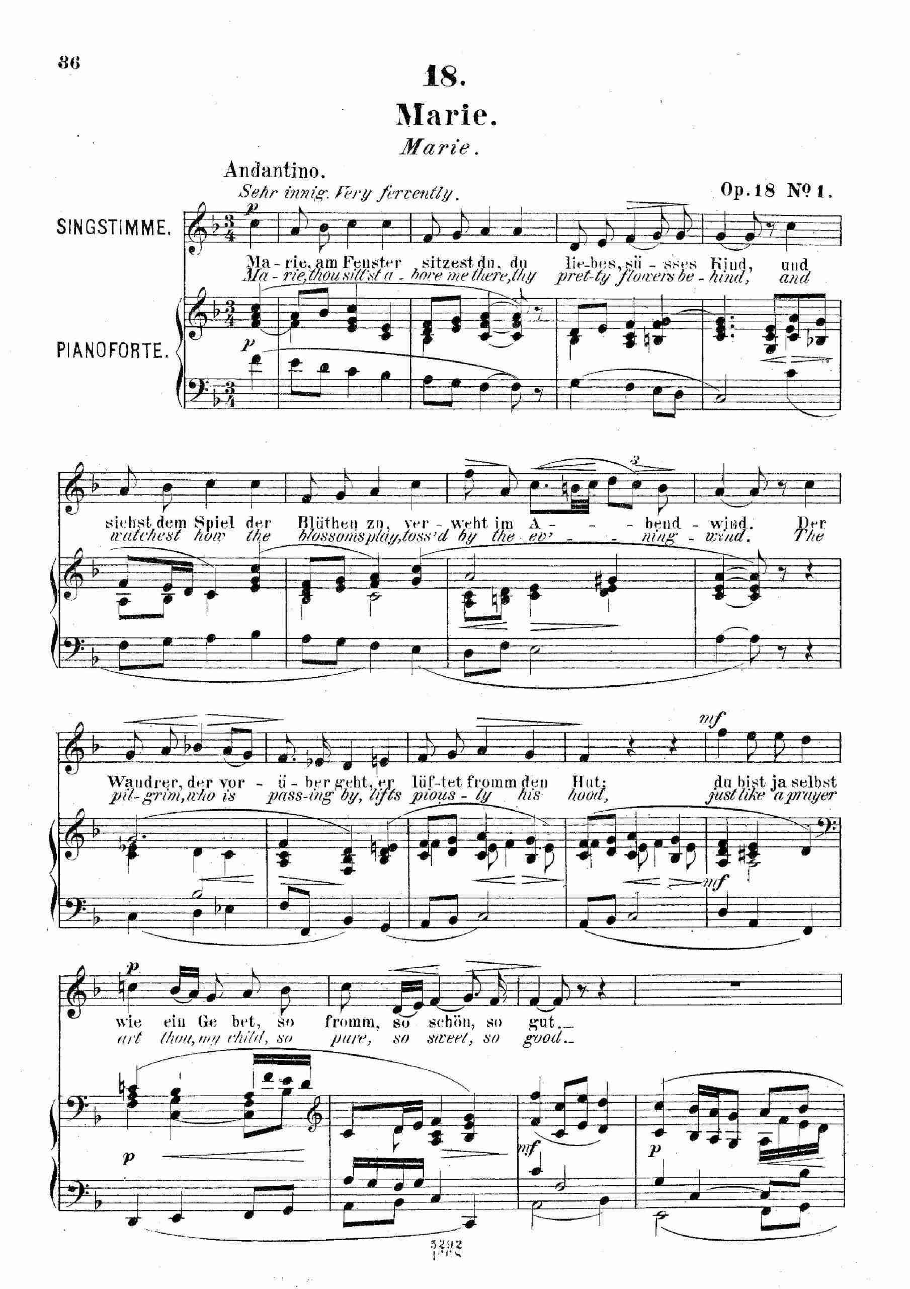 Franz, Robert - 6 Gesänge, Op.18