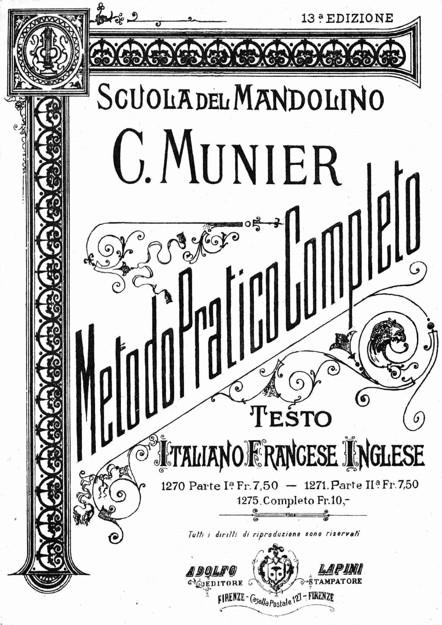 Munier, Carlo - Scuola del Mandolino (Part 2)