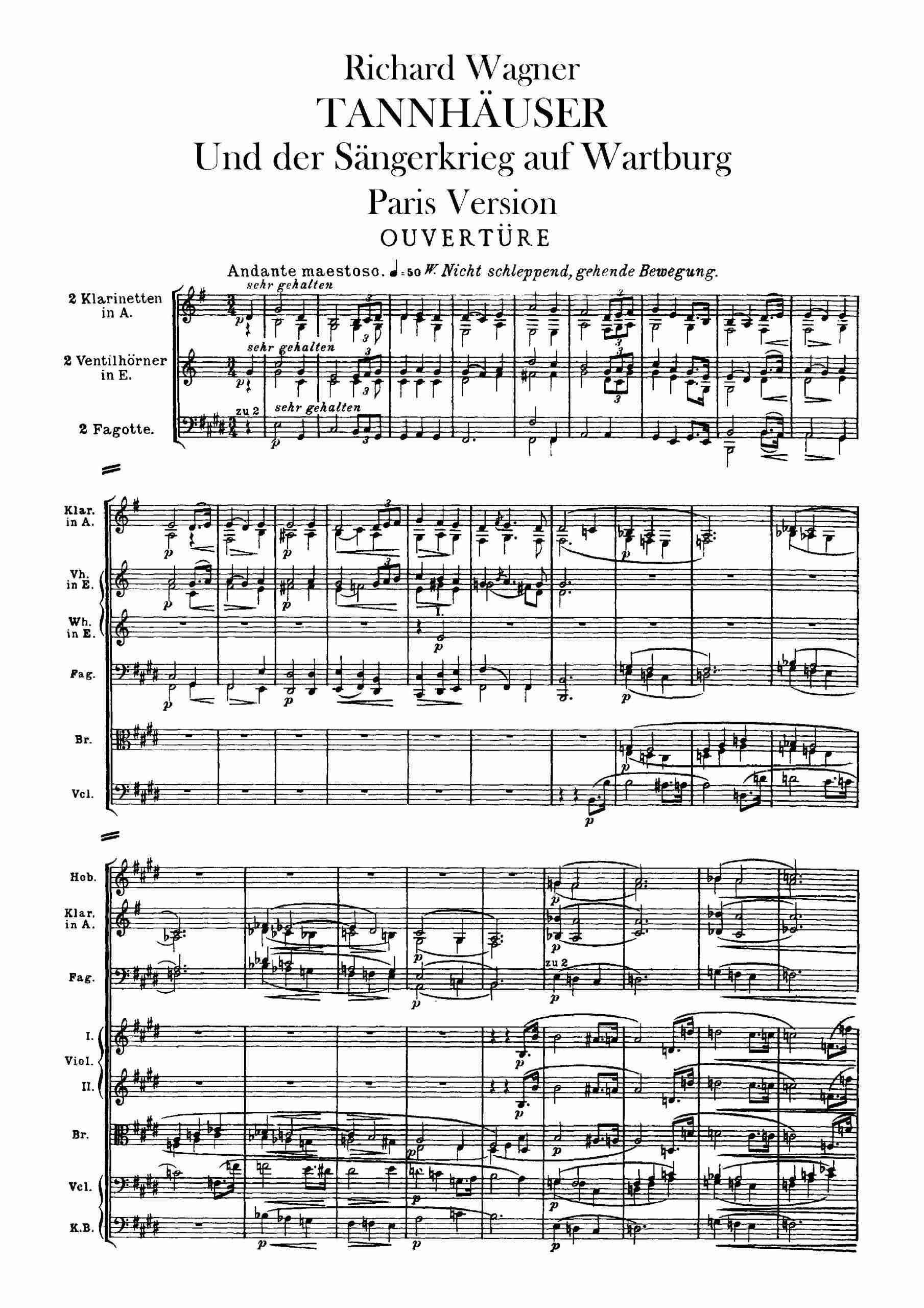 Wagner, Richard - Tannhäuser, WWV 70 (A4 score)