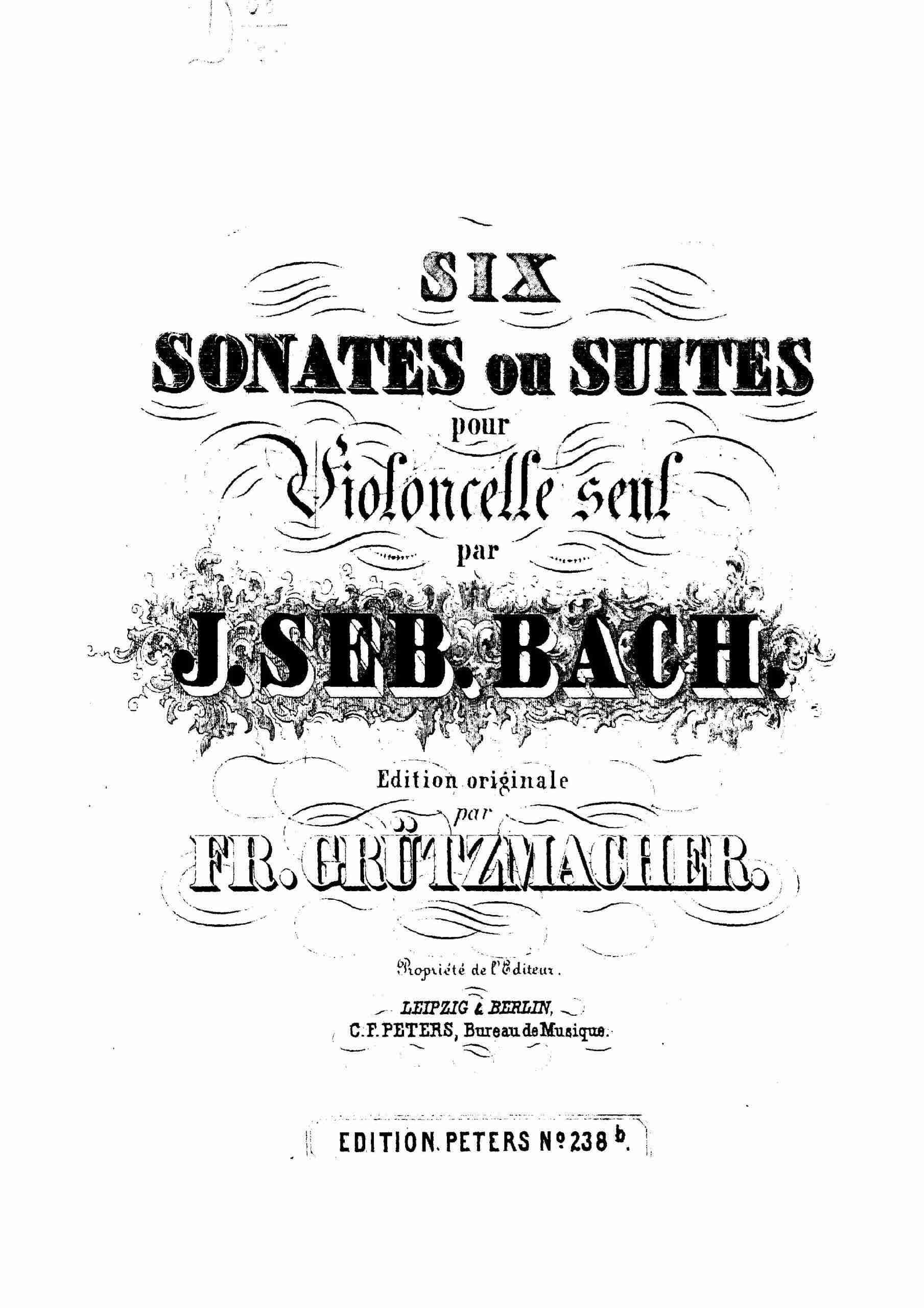 Bach - 6 Cello Suites (arr. Grützmacher)
