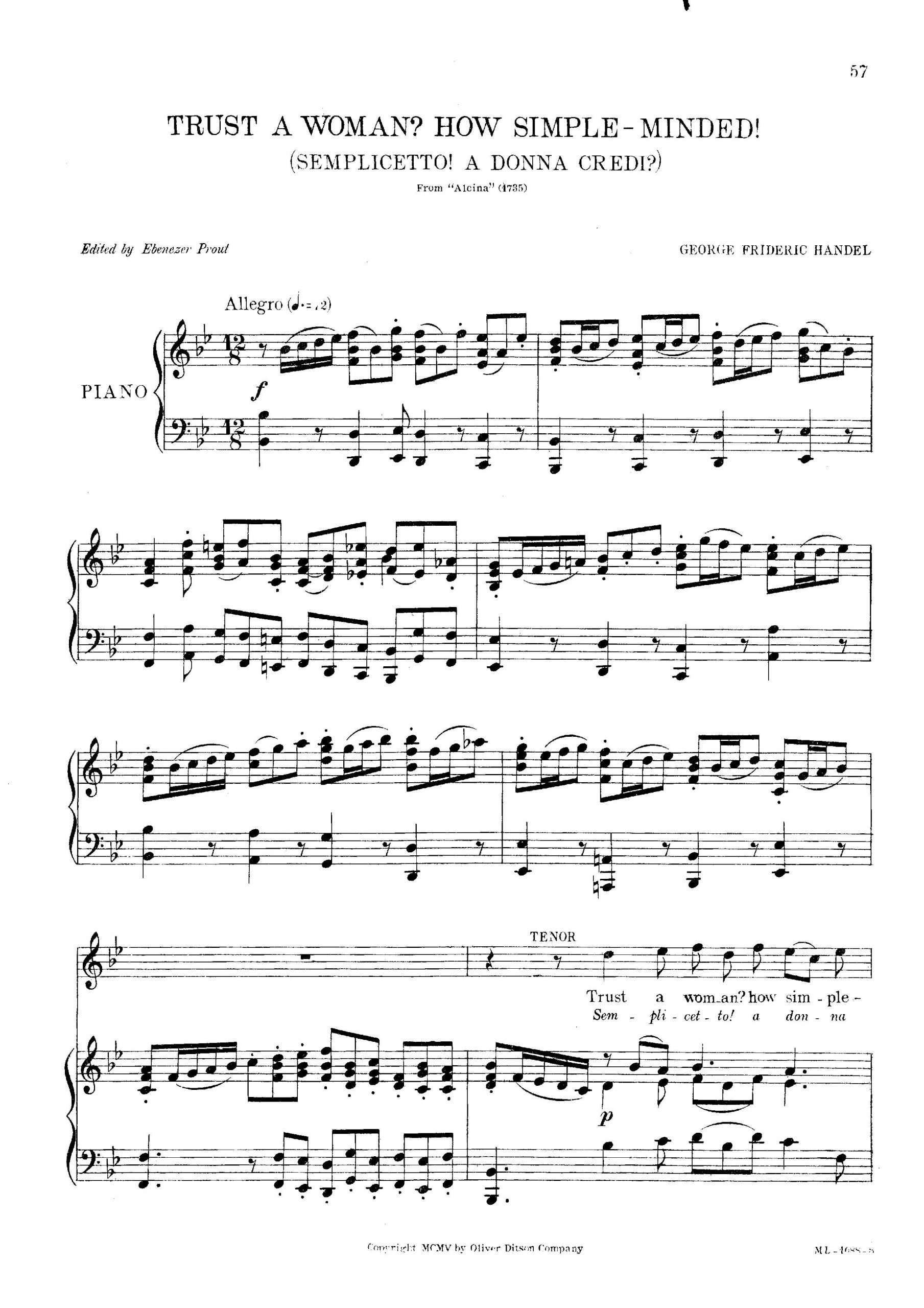 Handel, George Frideric - Alcina, HWV 34 (12-Aria)