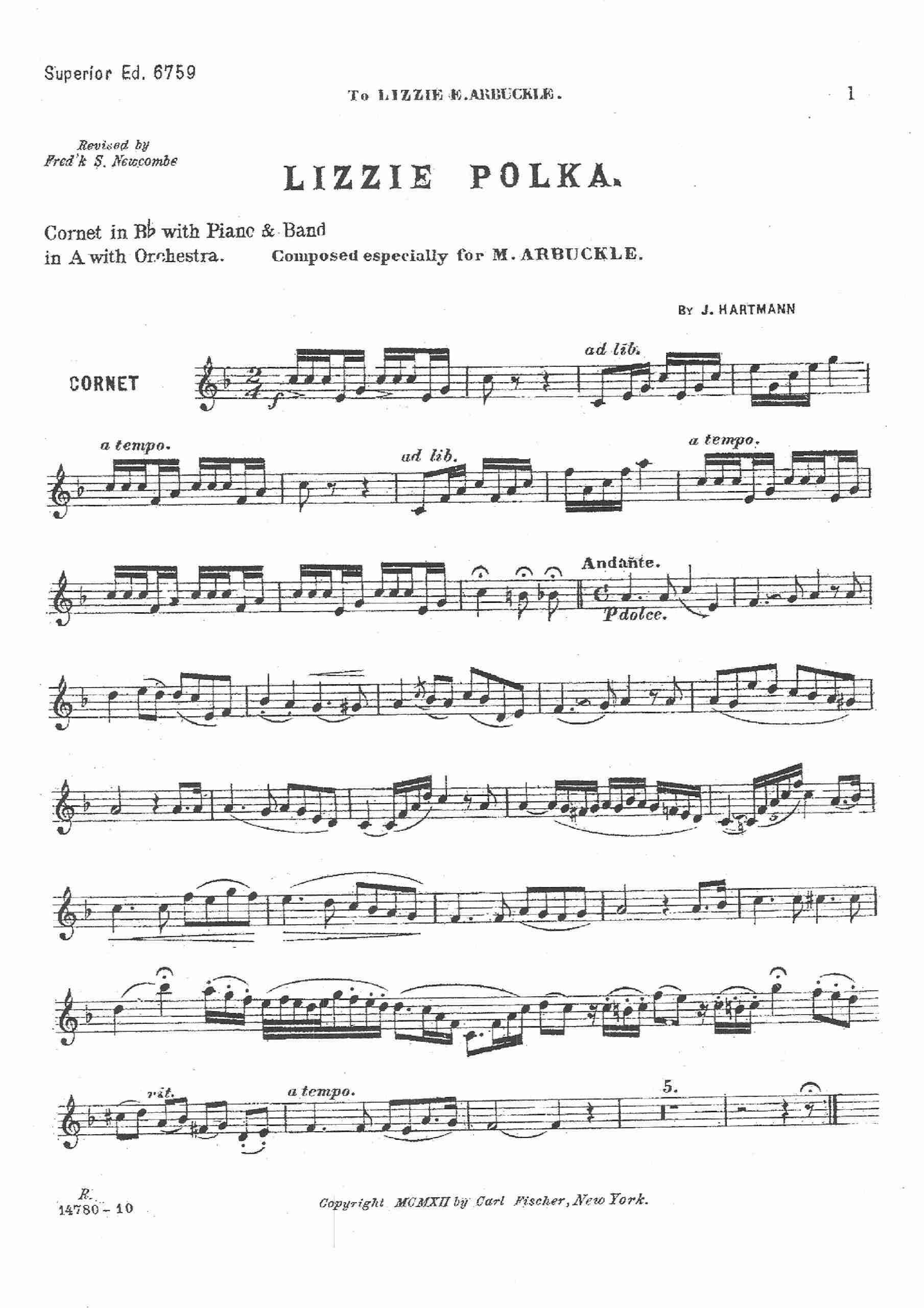 Hartmann, John - Lizzie Polka (cornet solo)