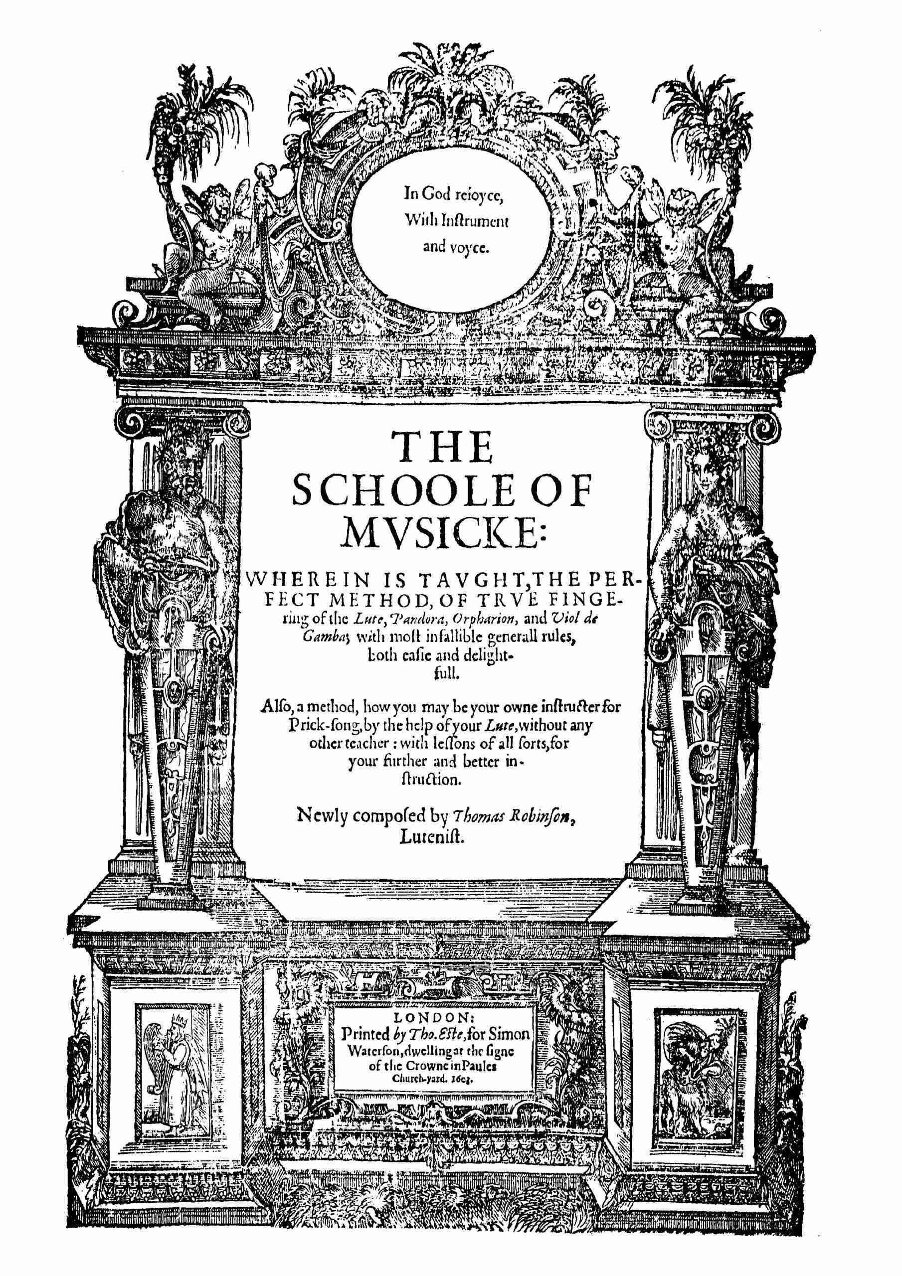Robinson, Thomas - The Schoole of Musicke