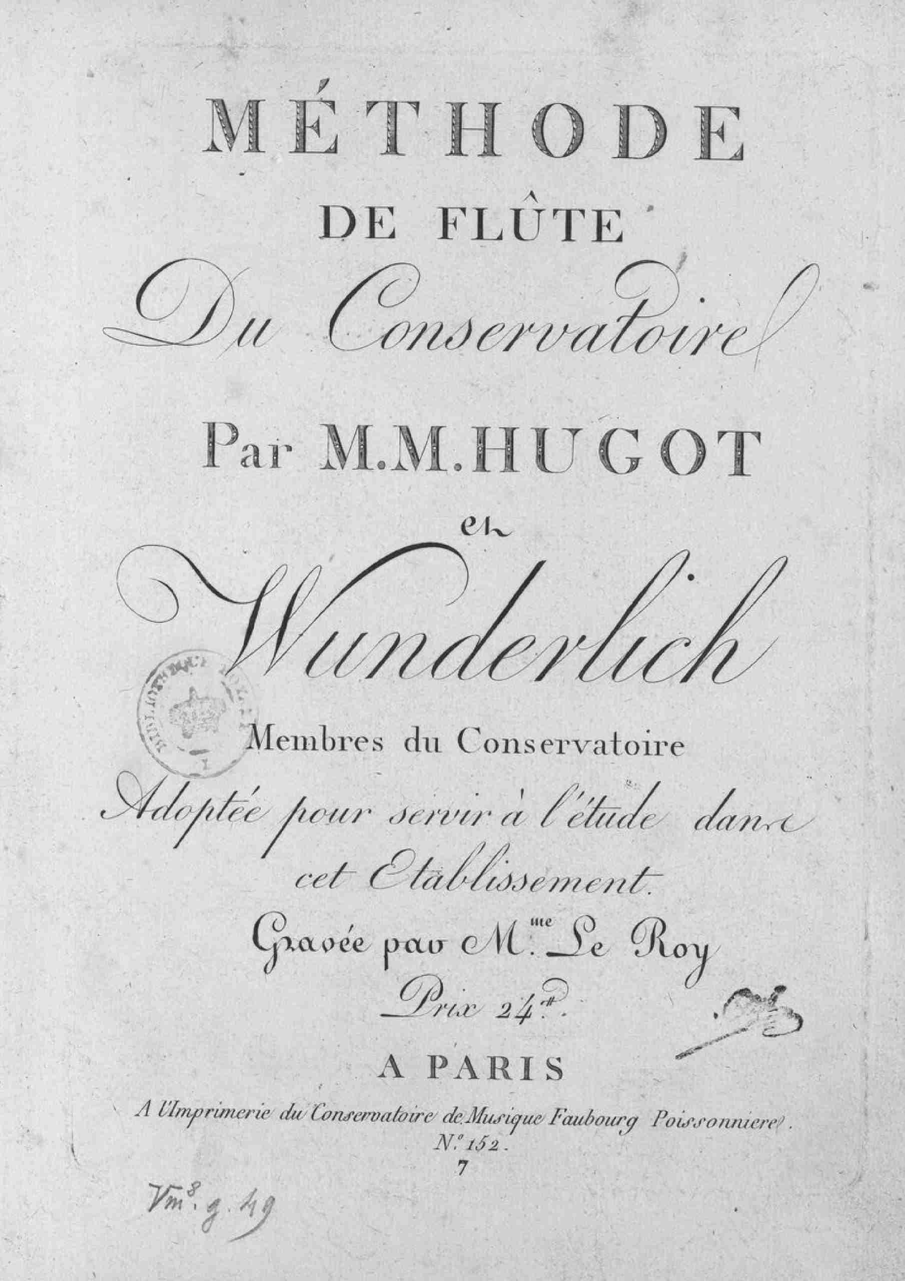Various - Méthode de flûte du Conservatoire