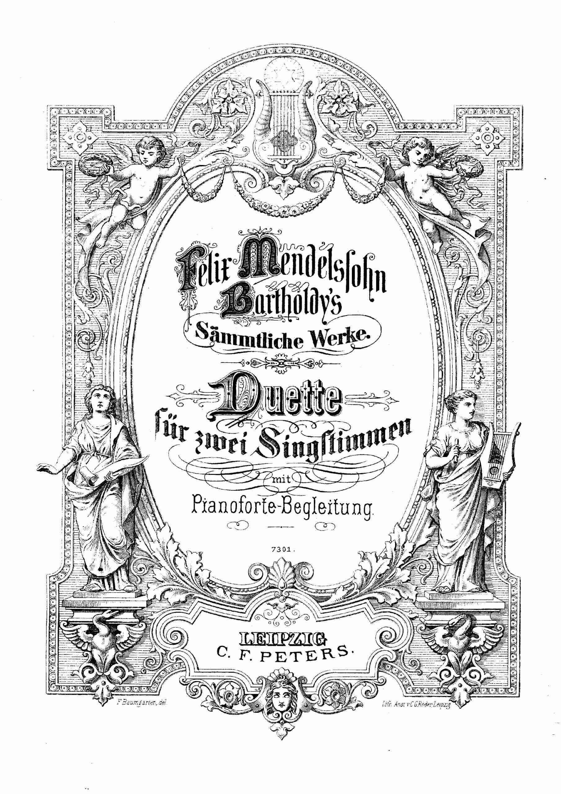 Mendelssohn, Felix - Duette für zwei Singstimmen
