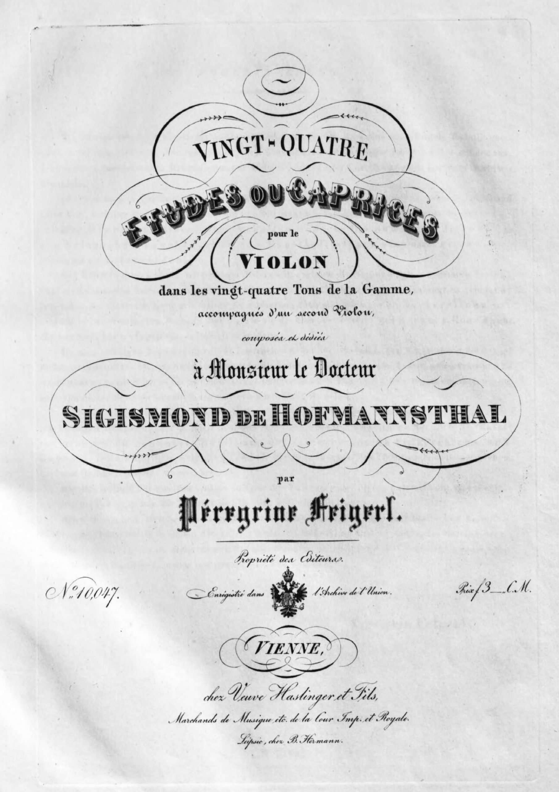 Feigerl, Peregrin - 24 Etudes or Caprices